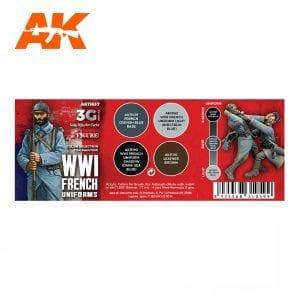 AK11637 WWI FRENCH UNIFORM COLORS
