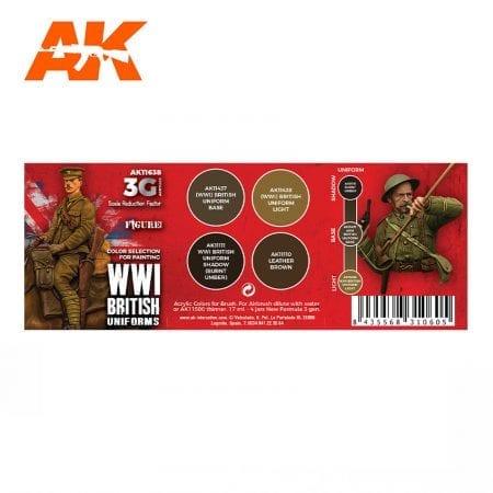 AK11638 WWI BRITISH UNIFORM COLORS