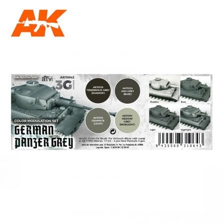AK11642 GERMAN PANZER GREY MODULATION SET