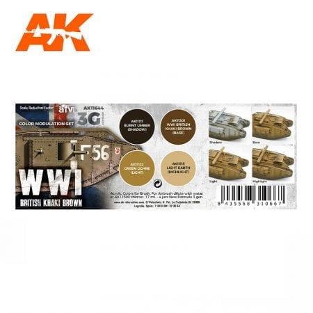 AK11644 WWI BRITISH COLORS MODULATION SET
