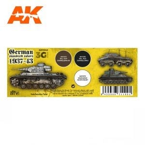 AK11645 GERMAN STANDARD COLORS 37-43