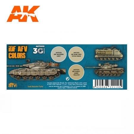 AK11650 IDF AFV COLORS
