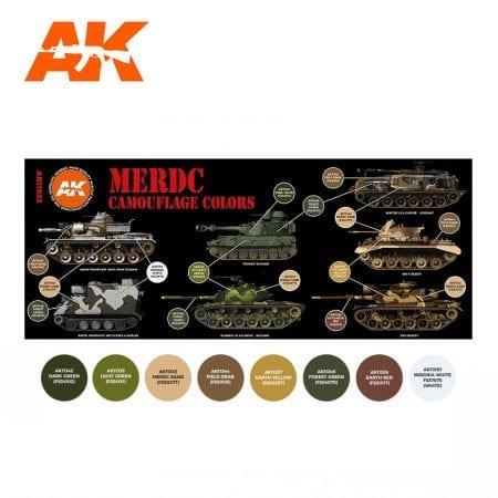 AK11653 MERDC CAMOUFLAGE COLORS