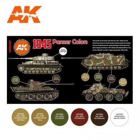AK11654 1945 PANZER COLORS