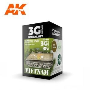 AK11659 VIETNAM CAMOUFLAGE COLORS FOR JUNGLE COLORS
