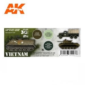 AK11659 VIETNAM CAMOUFLAGE COLORS FOR JUNGLE COLORS