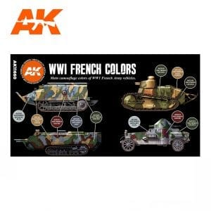 AK11660 WWI FRENCH AFV COLORSAK11660 WWI FRENCH AFV COLORS