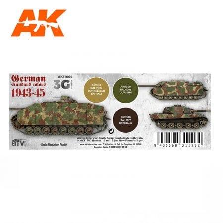 AK11664 GERMAN STANDARD COLORS 1943-45