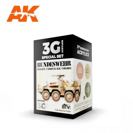 AK11666 BUNDESWEHR DESERT CAMOUFLAGE COLORS