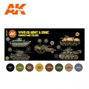 AK11668 WWII US ARMY AND USMC CAMOUFLAGE COLORS