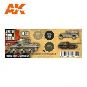 AK11677 BRITISH ARMY COLORS: TUNISIA, SICILY & ITALY 1943-45