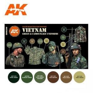 AK11682 VIETNAM GREEN & CAMOUFLAGE UNIFORMS