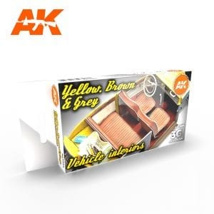 AK11684 YELLOW, BROWN & GREY VEHICLE INTERIORS