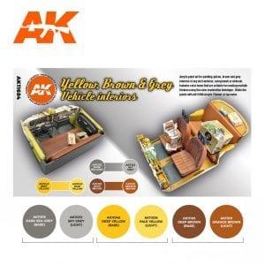 AK11684 YELLOW, BROWN & GREY VEHICLE INTERIORS
