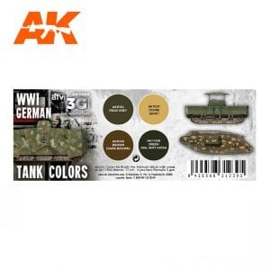 AK11686 WWI GERMAN TANK COLORS