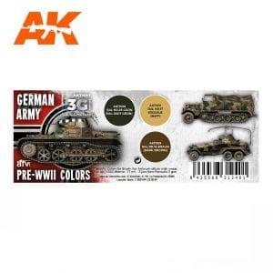 AK11687 GERMAN ARMY PRE-WWII COLORS