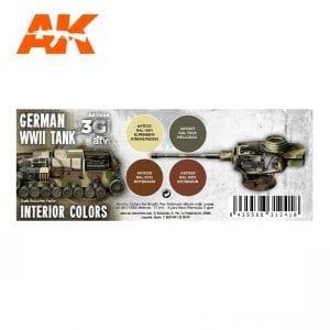 AK11688 GERMAN WWII TANK INTERIOR COLORS