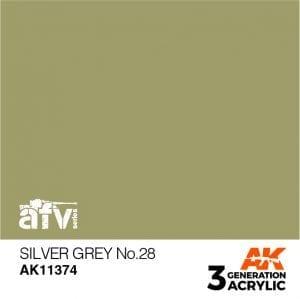 AK11374 SILVER GREY NO.28