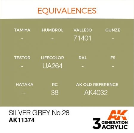 AK11374 SILVER GREY NO.28