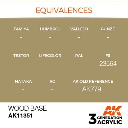 AK11351 WOOD BASE