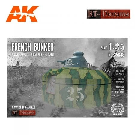 RTD35648 French Bunker with FT Turret