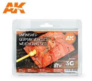 AK11651 Unfinished German Vehicles Weathering set