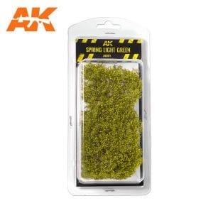 AK8171 SPRING LIGHT GREEN SHRUBBERIES 1:35 / 75MM / 90MM