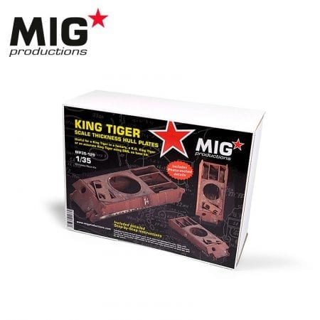 MP35-129 KING TIGER - SCALE THICKNESS HULL PLATES 1/35