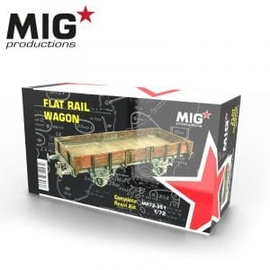 MP72-351 FLAT RAIL WAGON RESIN KIT