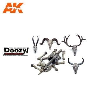 DZ036 ANIMAL SKULLS & SKELETONS