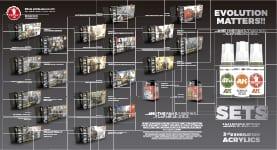 TRIPTICO AFV-FIG SETS acrylics third generation akinteractive