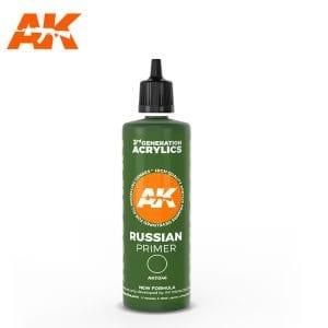 AK11246 RUSSIAN GREEN SURFACE PRIMER 100ML