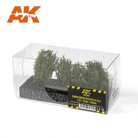 AK8215 DARK GREEN BUSHES 4-5CM
