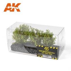 AK8216 LIGHT GREEN BUSHES 4-5CM